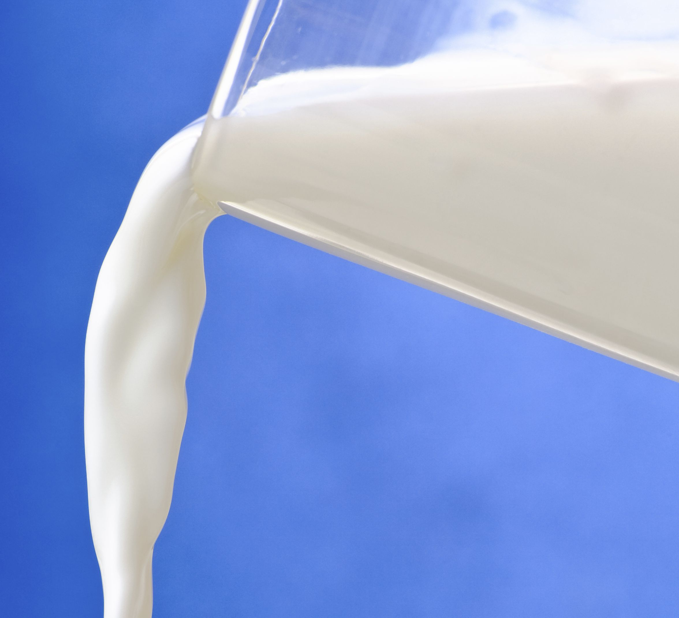 A glass of healthy milk